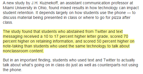 Do smartphones make for smart students That depends Page 2 of 3 eClassroom News